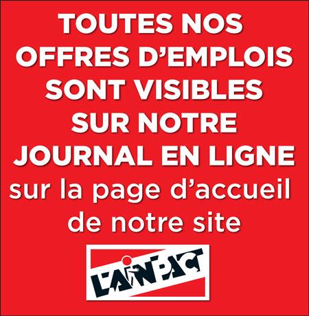 Toutes les offres d'emploi de L'Ain