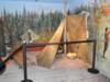 Un campement de fortune en forêt