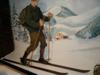 Déplacements à ski l'hiver