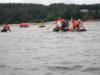 Les pionniers-caravelles sur leur radeau de cet été