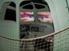 Une cabine d'avion reconstituée